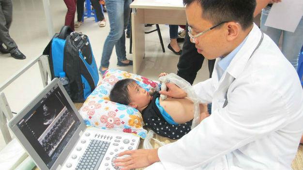 3000 trẻ nhỏ được khám sàng lọc bệnh tim miễn phí tại Hà Giang