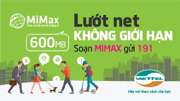 Viettel thay đổi chính sách gói cước Mimax