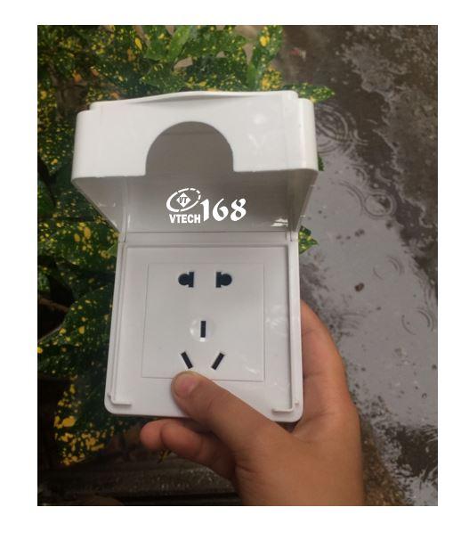 ổ cắm điện ngoài trời có bộ hộp che chống nước