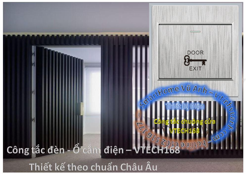 G106_Nút ấn khẩn cấp hoặc mở khóa kích thước lớn EXIT-DOOR - Màu sọc xám