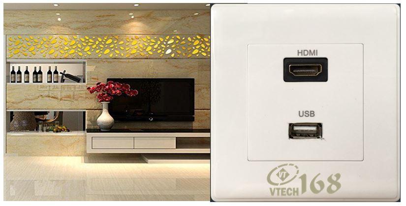 ổ cắm hdmi và usb âm tường-vtech168-SC06