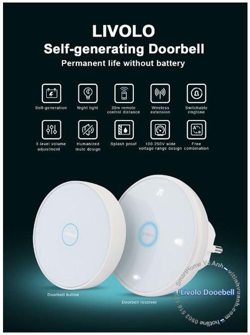 Chuông cửa Door Bell Livolo VL-D101K và VL-D101EU