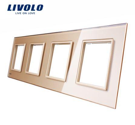 Ổ căm điện mặt kính đa năng Livolo VL-C7-4SR