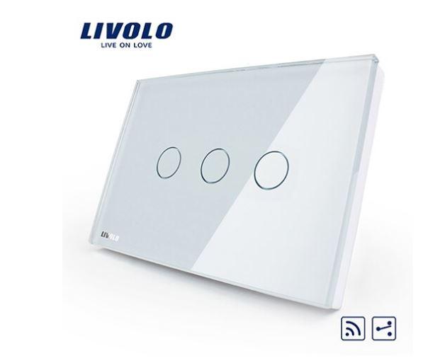 Livolo VL-C303SR Công tắc cảm ứng đk từ xa 2 chiều