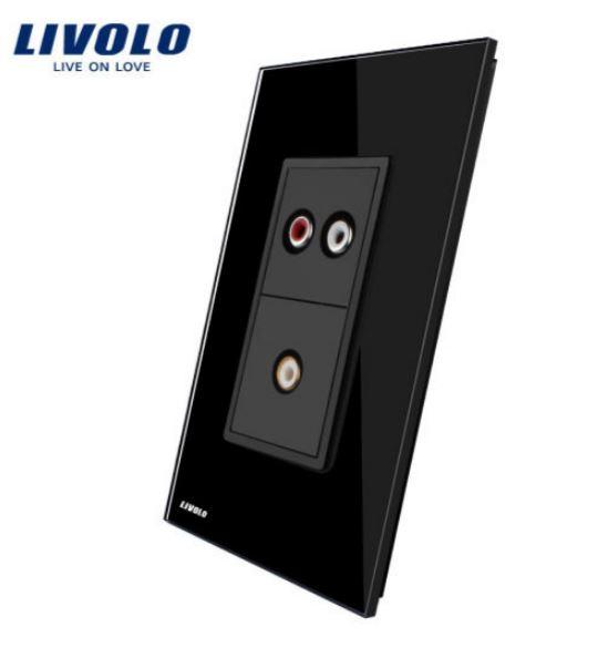 Ổ cắm Audio và Video - Âm tường ( Livolo VL-C591ADVD )