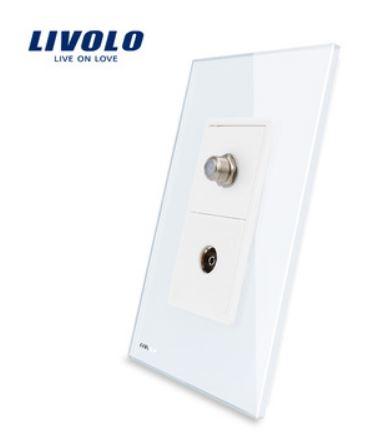 Ổ cắm TV Out & TV in ( Livolo VL-C591STV )