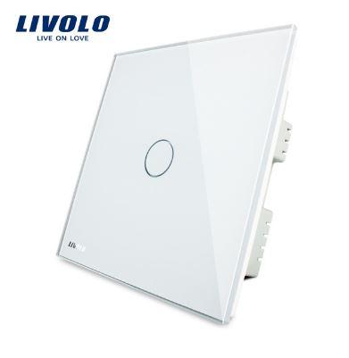 Công tắc cảm ứng mặt kính cường lực 1 phím Livolo  VL-C301