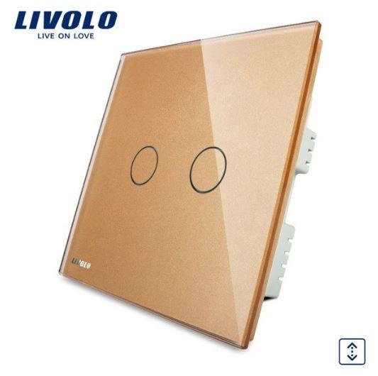 CÔNG TẮC CẢM ỨNG RÈM CỬA LIVOLO VL-C302R-61/62/63( 1 Chiều )