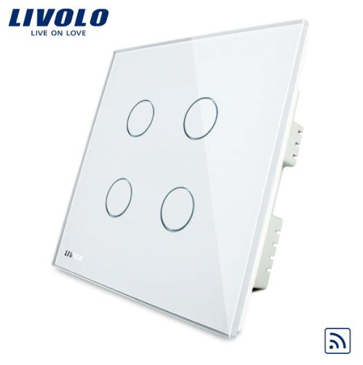 CÔNG TẮC CẢM ỨNG ĐIỀU KHIỂN TỪ XA LIVOLO VL-C304R-61/62/63( 1 CHIỀU )