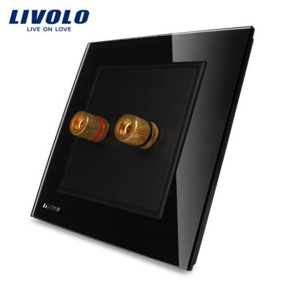 Ổ cắm âm thanh mặt kính Livolo VL-W291A