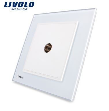 Ổ cắm cho TV cáp đồng trục Livolo VL-W291V