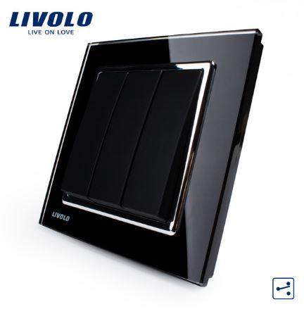 Công tắc 3 cực 2 chiều Livolo VL-W2K3
