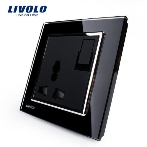 Ổ cắm điện đa năng 3 chấu có công tắc 13A Livolo VL-W2Z1C