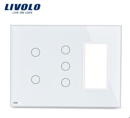 Công tắc cảm ứng 5 phím có Socket Livolo VL-C5-C2-C3-SR