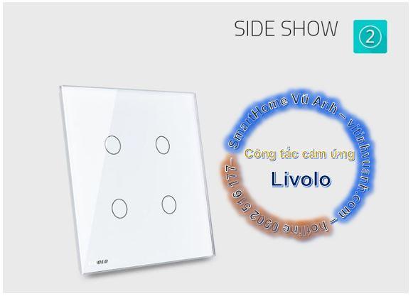 Công tắc cảm ứng Livolo 2 phím đôi Livolo VL-C5-C2xC2