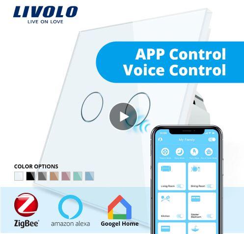 Công tắc cảm ứng 1 chiều Zigbee Livolo VL-C702Z
