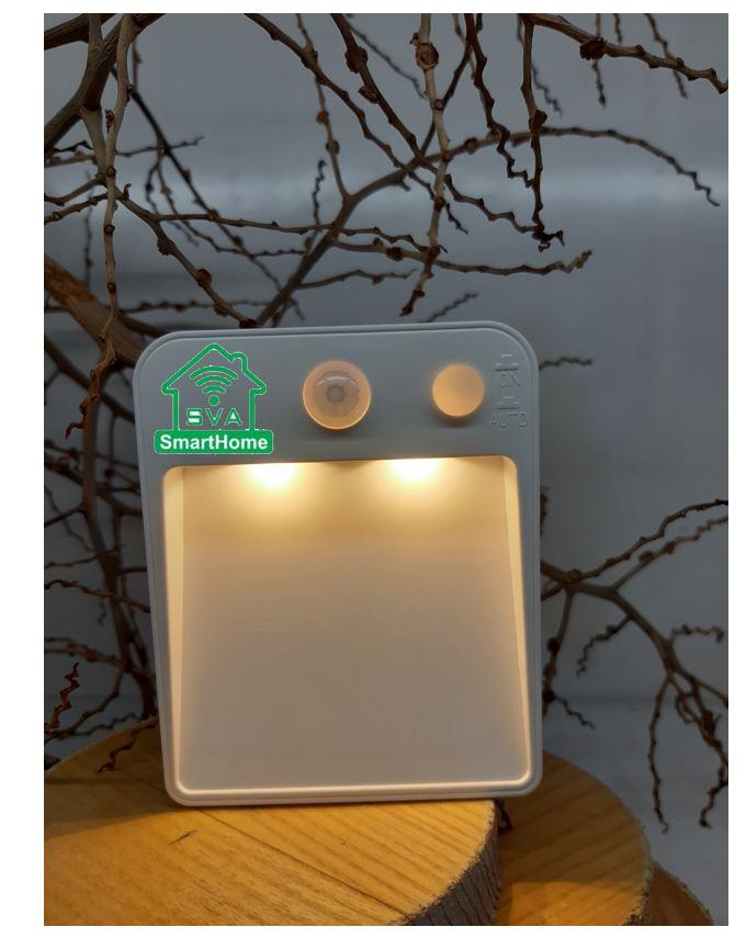 Đèn ngủ LED, Cảm biến chuyển động dạng dính Đèn ngủ dùng pin Đèn LED tự động cho phòng ngủ, phòng tắ