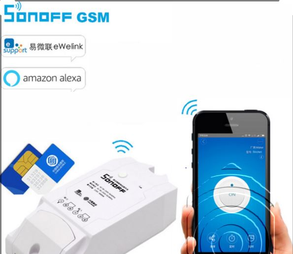 Công Tắc Điều Khiển Từ Xa Qua Sim GSM Sonoff SHP-G1