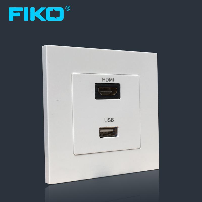 Bộ ổ cắm đa năng HDMI và USB - Âm tường - FiKo
