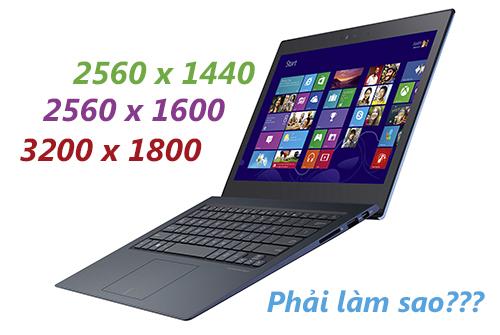 Hiệu chỉnh để giúp hình ảnh đẹp hơn khi dùng laptop Windows 8/8.1