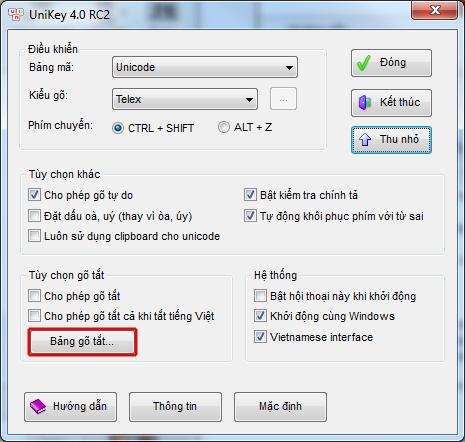 Hướng dẫn sử dụng chương trình Unikey trong Windows XP
