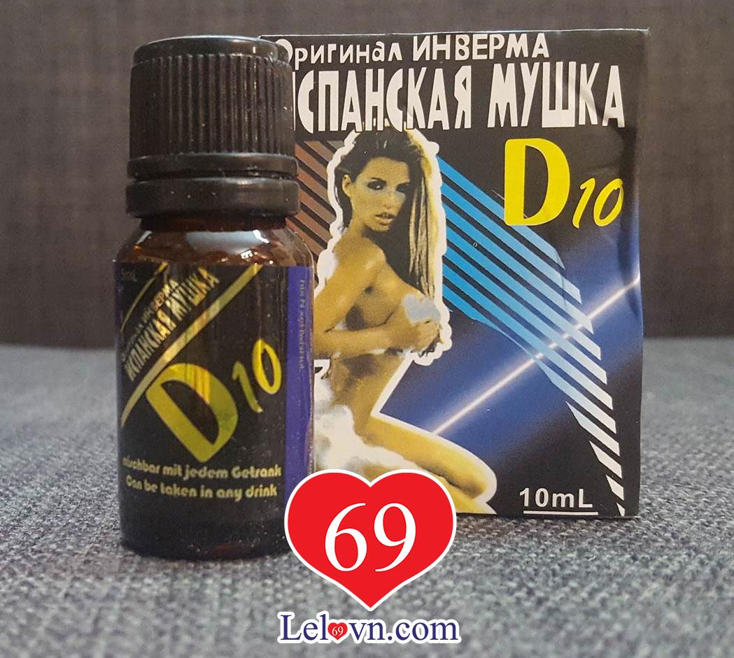 TK7222 Thuốc Kích Dục Nữ D10 (10ml)