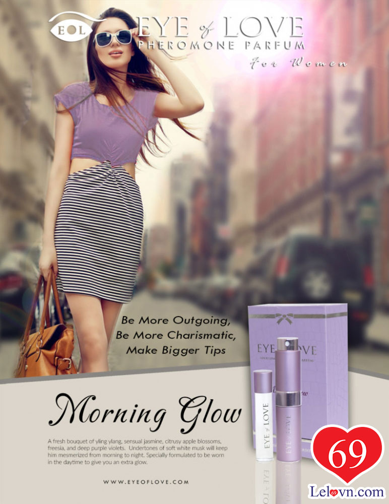 Bạn gái tự tin với nước hoa kích dục Morning Glow