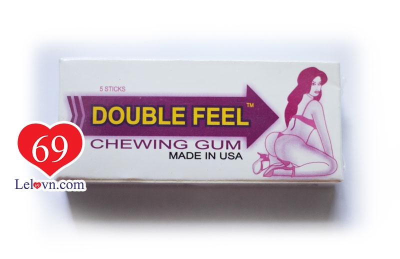 kẹo cao su kích dục mạnh mẽ Double Feel