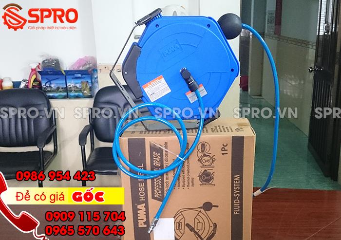 Cuộn dây hơi tự rút Đài Loan - Dây hơi ròng rọc PUMA vỏ nhựa