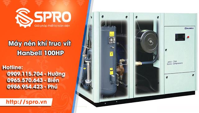 Spro - Máy nén khí trục vít 100HP giá rẻ tại TPHCM