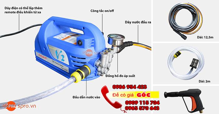 Máy bơm xịt rửa vệ sinh máy lạnh giá rẻ tại tp HCM