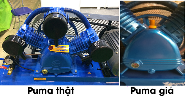 Phân biệt máy nén khí Puma thật với máy nén khí Puma giả