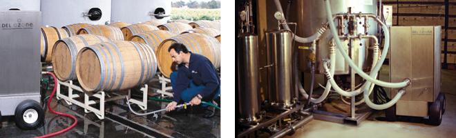 Hệ thống vệ sinh bằng ozone trong nhà máy sản xuất rượu vang