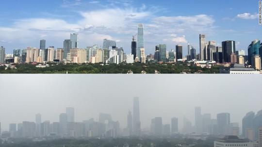 Bầu trời xanh biến mất sau lễ duyệt binh ở Bắc Kinh