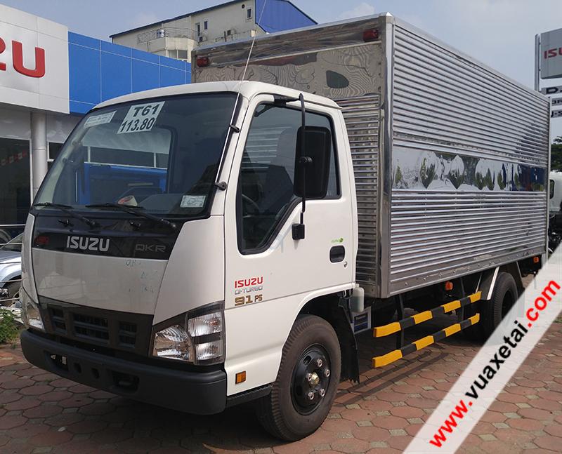 Xe tải Isuzu 2,2 tấn QKR nâng tải mới