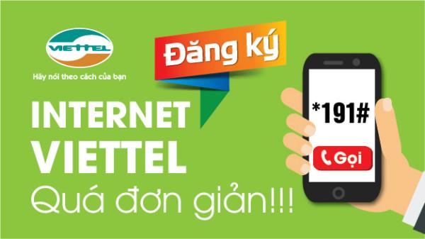 Chỉ cầm bấm *191# để đăng ký dịch vụ Mobile Internet