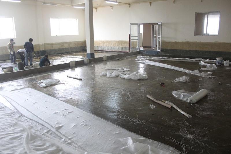 Bọc Composite FRP bể nước thải hệ thống xi mạ