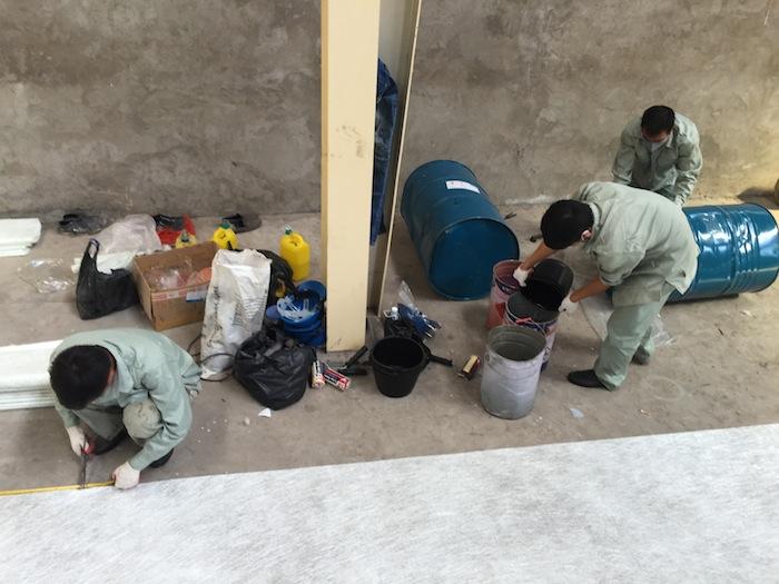 Bọc phủ composite bể phốt phát