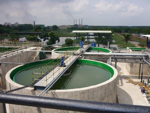 Bọc composite hệ thống xử lý nước thải