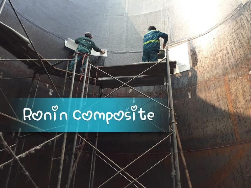 bọc composite bể chứa HCl