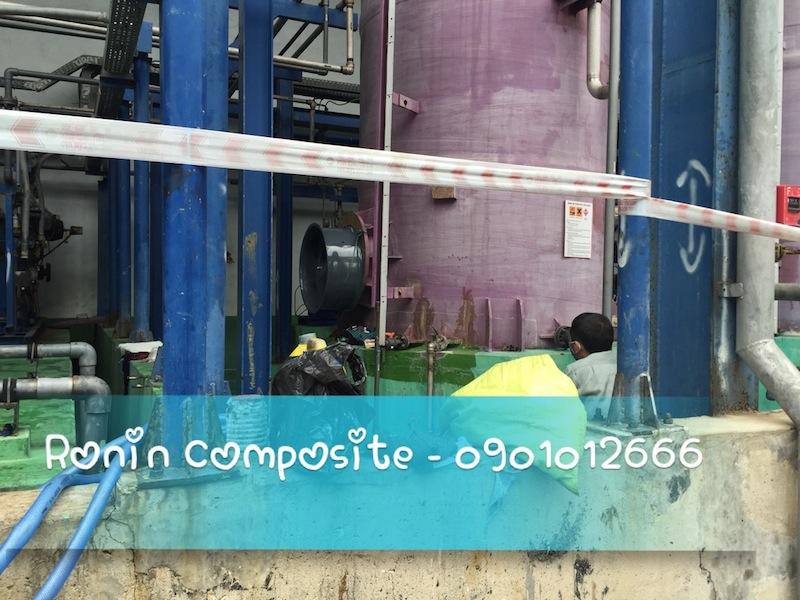Bọc phủ composite bồn chứa axit