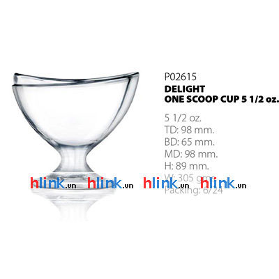Bộ 6 Ly Kem Thấp Delight One Scoop Cup - P02615 - 155ml