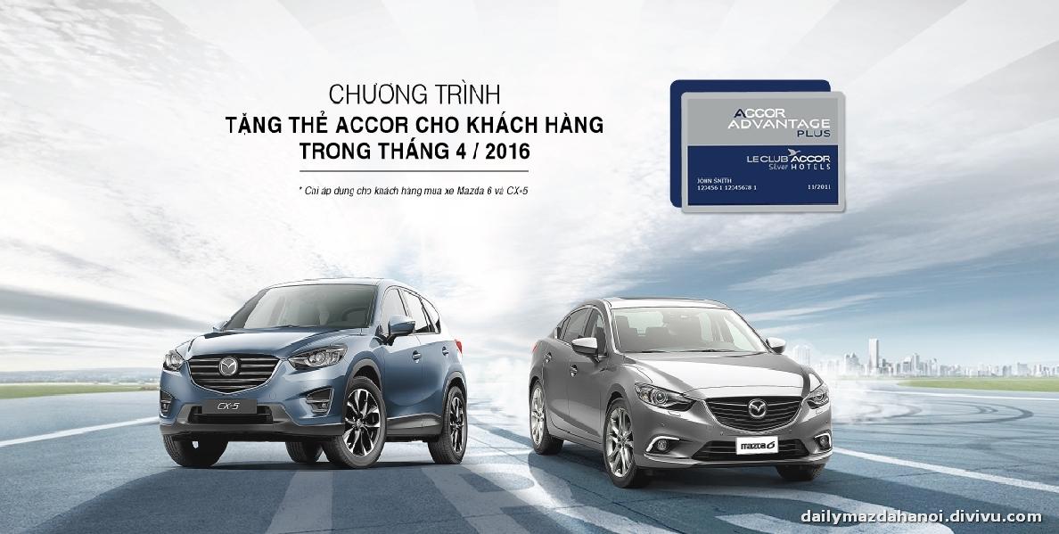Mua xe Mazda trong tháng 04/2016 - Khách hàng được tặng ngay thẻ Accor dịch vụ