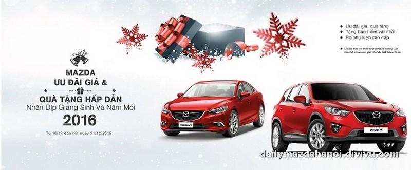 Tháng 12/2015 mua xe Mazda hưởng nhiều ưu đãi hấp dẫn