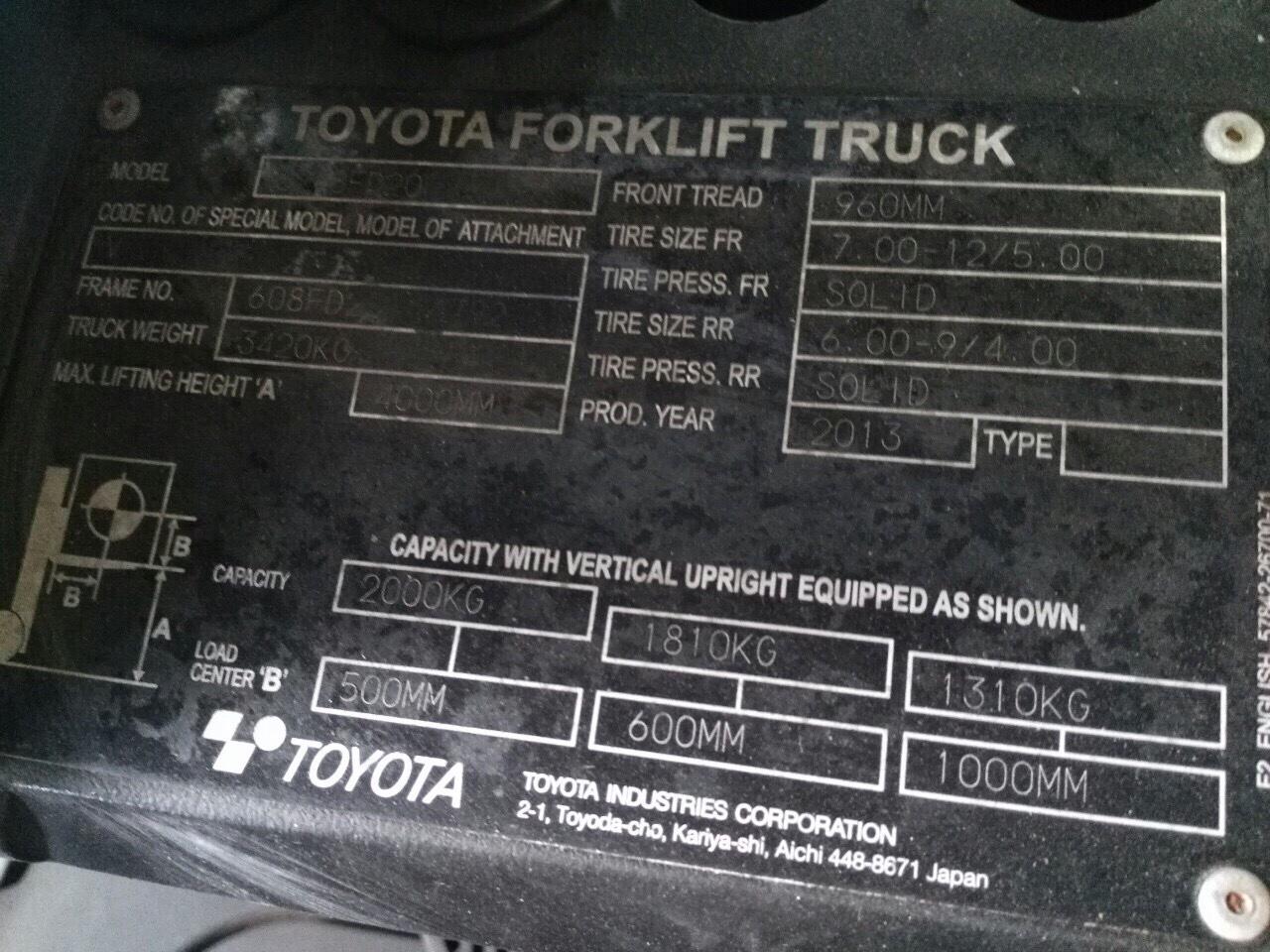 Xe Toyota 2T đã qua sử dụng