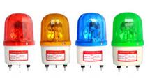 Đèn báo động chớp xoay điện áp 12VDC (option 24V, 220V)  màu đỏ ( có thêm màu xanh, vàng)
