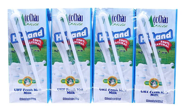 Sữa tươi tiệt trùng đại mạch Hi-Land lốc 4 hộp x 180ml