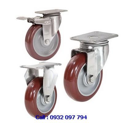 Bánh xe inox, bánh xe đẩy inox 304, bánh xe càng inox Colson
