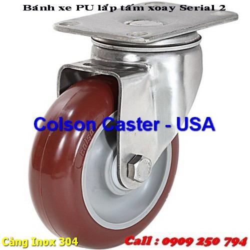 Bánh xe đẩy càng Inox 304 - 2 Series