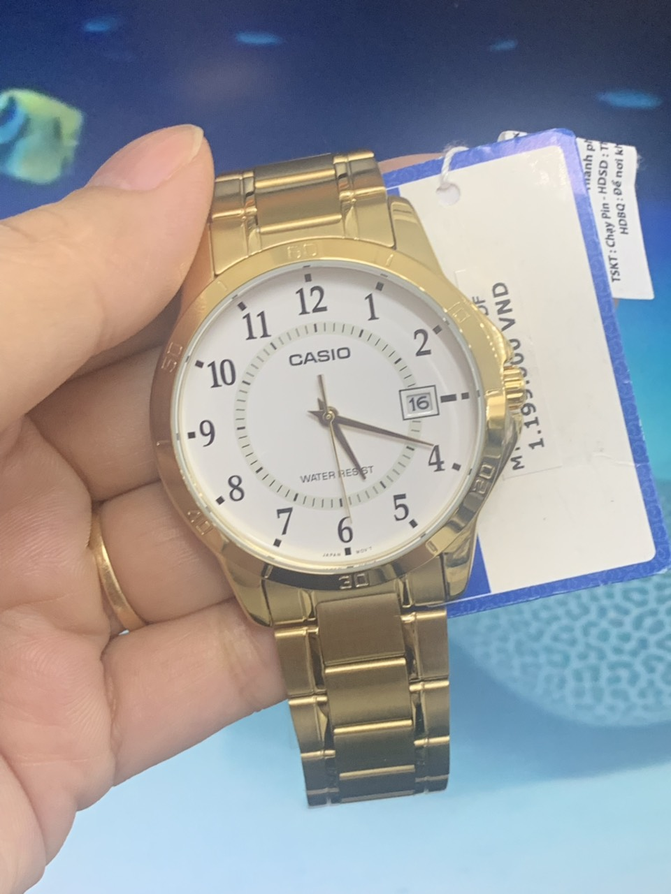 Đồng Hồ Casio Nam MTP-V004G-7BUDF Dây Kim Loại Mạ Vàng